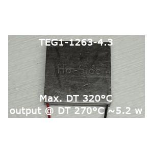 TEG- TERMOGENERAATOR MAX 5,1W MAX 320 C